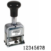 Heavy-Duty Auto-Increment Number Stamp, Product No. 40244