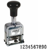 Heavy-Duty Auto-Increment Number Stamp, Product No. 40246