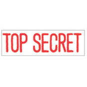 """TOP SECRET"" Stock Stamp, Product No. NSN-7520-01-207-4118"