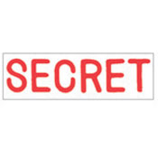 """SECRET"" Stock Stamp, Product No. NSN-7520-01-207-4119"