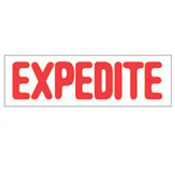 """EXPEDITE"" Stock Stamp, Product No. NSN-7520-01-207-4205"
