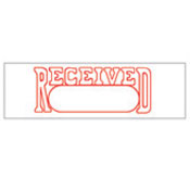 """RECEIVED"" Stock Stamp, Product No. NSN-7520-01-207-4231"
