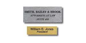 Name Plates Only